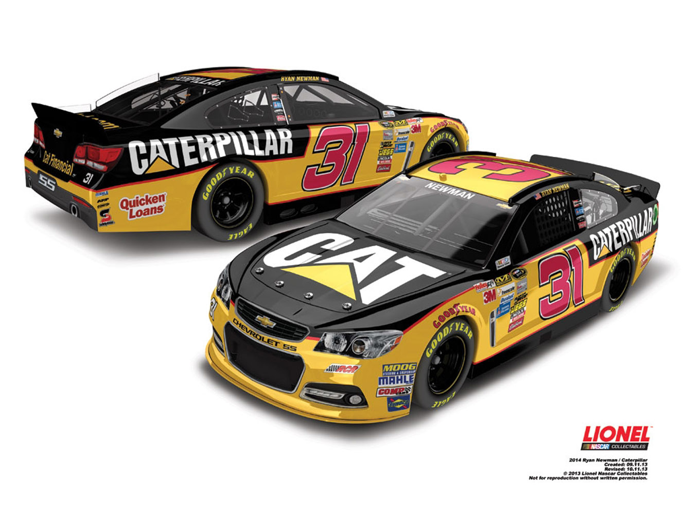 2014 Ryan Newman #31 Caterpillar 1:24 Diecast Car