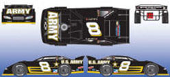 2008 Mark Martin #8 Army  Eldora  Late Model Car