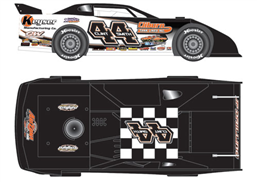 2014 Clint Smith #44 Keyser 1/64 Dirt Late Model Diecast Car