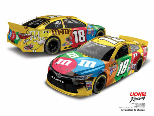 2016 Kyle Busch #18 M&M's 1:24 Diecast Car