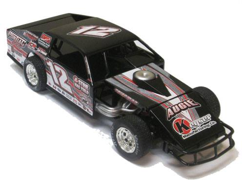 ADC Red Series 2016 Jeff Curl, IL 1/64 Dirt Modified Diecast Car.
