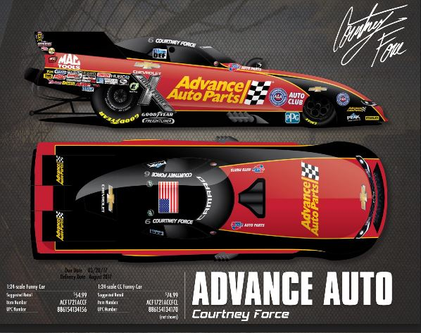 2017 Courtney Force Advance Auto 1:24 Funny Car