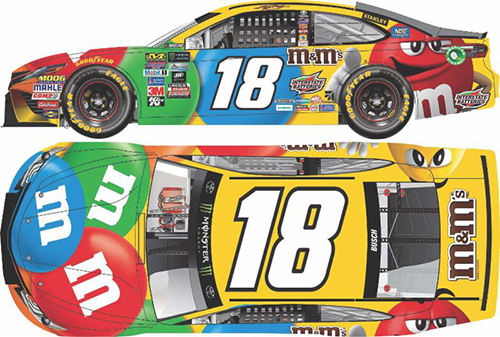 2017 Kyle Busch #18 M&M's 1:24 Diecast Car