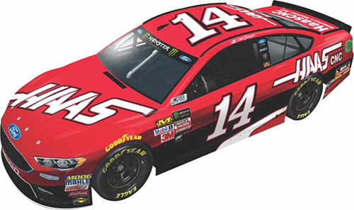 2017 Clint Bowyer #14 Haas 1:24 HO Diecast Car