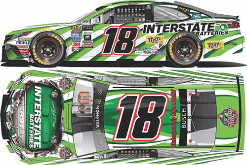 2017 Kyle Busch #18 Interstate Batteries 1:24 HOTO Diecast Car