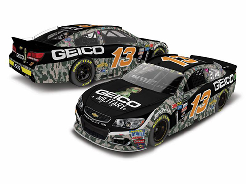 2017 Ty Dillon #13 Geico Military 1:24 Diecast Car