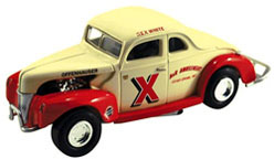 1940 Rex White  A&R Amusement 1:24 Ford Diecast Car.