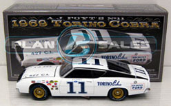 "AJ Foyt 1969 #11 Ford Torino 1:24  Diecast Car.  ""Standard Or Autographed Version"""