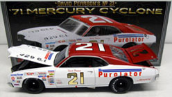 "1971 David Pearson # 21 Purolator Mercury 1/24 Diecast Car. ""Standard Or Autographed Version"""