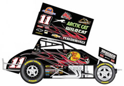 2012 Steve Kinser # 11 Bass Pro Special Black Smoke Sprint Car