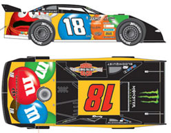 2012 KYLE BUSCH  #18 M&M 1/24 Dirt Late Model Car