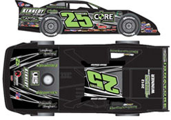 2012  SHANE CLANTON  #25 1/24 ADC Dirt Late Model Diecast Car