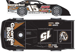 2012 Jonathan Davenport #15 GEORGIA BOOT 1/24 Dirt Late Diecast Car