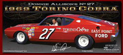 "Donnie Allison #27 1969 East Point 1:24  Diecast Car.  ""Standard Or Autographed Version"""