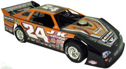 2012 RICK ECKERT #24 1/24 Dirt Late Model Diecast Car.