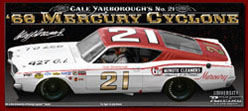 1968 Cale Yarborough #21 Mercury Cyclone 1/24 Diecast Car.