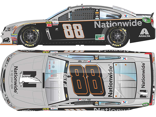 2017 Dale Earnhardt Jr #88 Nationwide Gray Ghost 1:24 Diecast Car