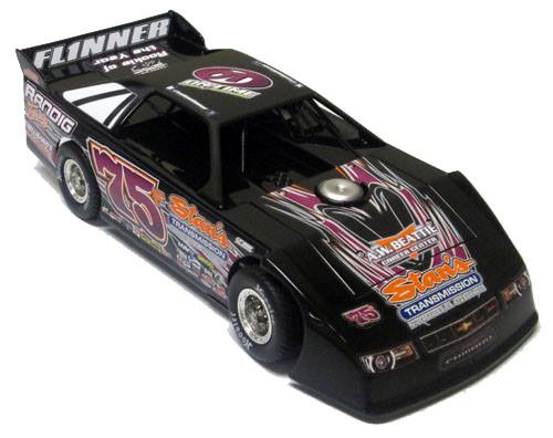 ADC Red Series. 2017 COLTIN FLINNER #75 Dirt Late Model 1/24 Diecast Car.