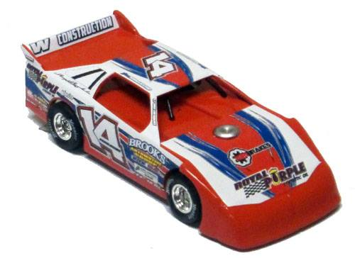 ADC Red Series. 2017 DAN ANGELICCHIO #14 Dirt Late Model 1/64 Diecast Car.