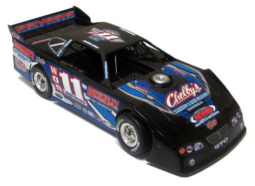 ADC Red Series. 2017 ROB BLAIR #11 Dirt Late Model 1/24 Diecast Car.