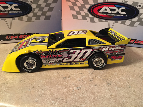 ADC RED SERIES 2017 Ryan King TN Driver Dirt Late Model 1/24 Diecast Car. Available to preorder UNTIL OCT 30TH 2017